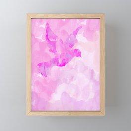 Abstract Flying Dove Framed Mini Art Print