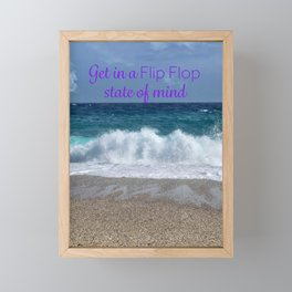 Flip Flop stat of mind Framed Mini Art Print