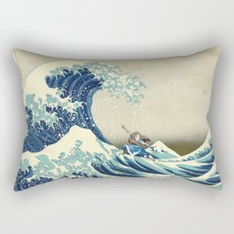 Katara Riding the Wave Rectangular Pillow