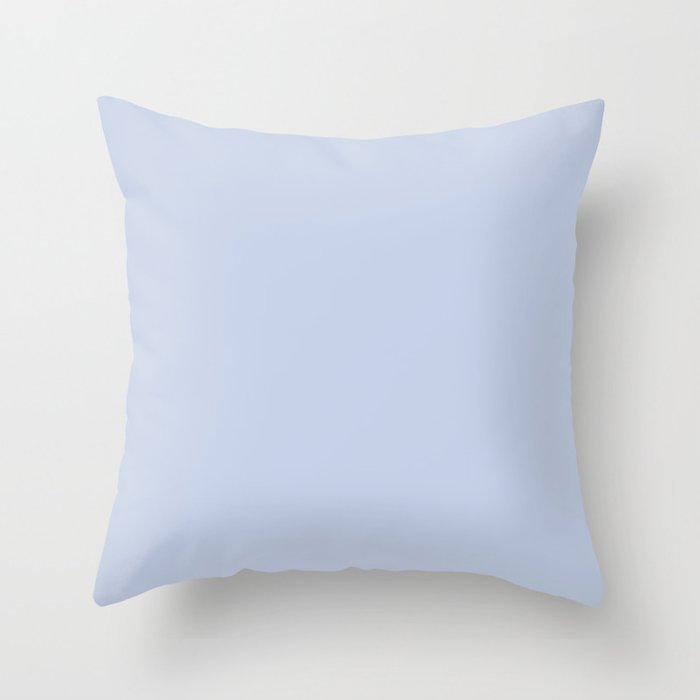 From Crayon Box – Periwinkle Blue - Pastel Blue Solid Color Throw Pillow