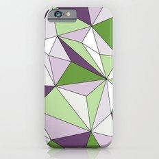 Geo - green, purple, gray and white. Slim Case iPhone 6s