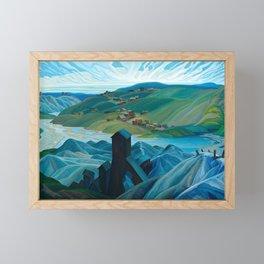 Canadian Landscape Franklin Carmichael Art Nouveau Post-Impressionism A Northern Silver Mine, 1930 Framed Mini Art Print
