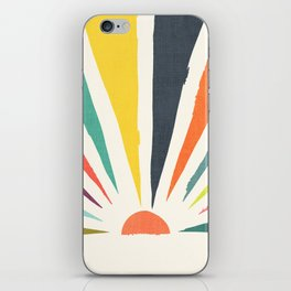 Rainbow ray iPhone Skin
