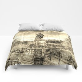 Allan Ramsey And Edinburgh Castle Vintage Comforters