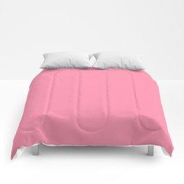 Flamingo Pink - solid color Comforters