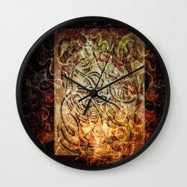 Burnt sienna Shroud Wall Clock