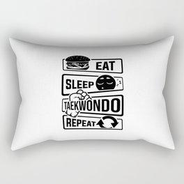 Eat Sleep Taekwondo Repeat - Martial Arts Rectangular Pillow