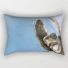 Screaming Turtle Rectangular Pillow