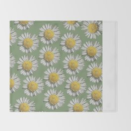 pastel daisy mania Throw Blanket