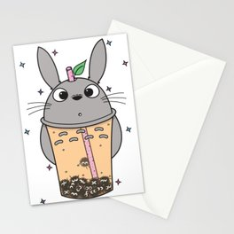 To-taro Bubble Tea Stationery Cards