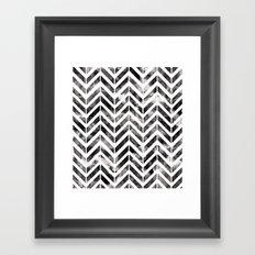 Brush Chevron Framed Art Print