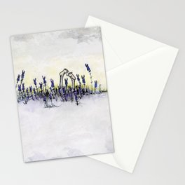 Girl Series #3 Girl Relaxing in Lavender Stationery Cards