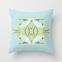 Blue Cockatoos Throw Pillow