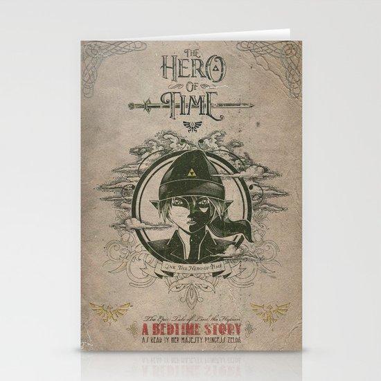 Legend of Zelda Link the Hero of Time Vintage Book Cover Stationery Cards