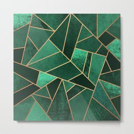 Emerald and Copper Metal Print