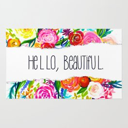 Neon Summer Floral + Hello Beautiful V2 Rug