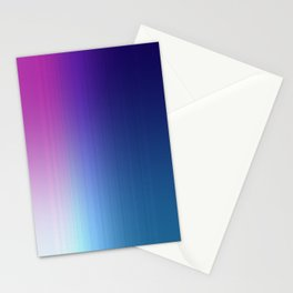Fuchsia Blue Ombre Stationery Cards
