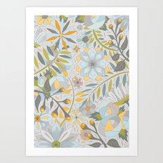 Faded Summer Blossoms Art Print