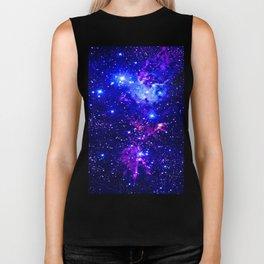 Fox Fur Nebula Galaxy blue purple Biker Tank