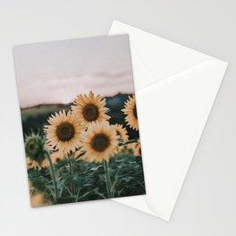 sunflowers / sunset Stationery Cards