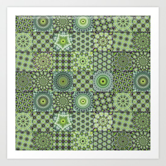 Green Valley Quilt Art Print