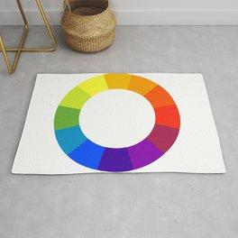 Pantone color wheel Rug