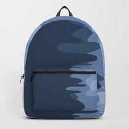 Blue ocean top view Backpack