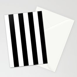 Black & White Vertical Stripes - Mix & Match with Simplicity of Life Stationery Cards