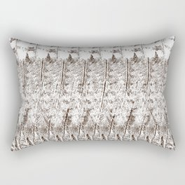 Feather Pattern | Bird Feathers | Brown and White | Rectangular Pillow
