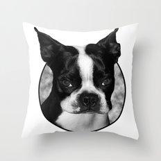 Boston Terrier Head Shot Throw Pillow