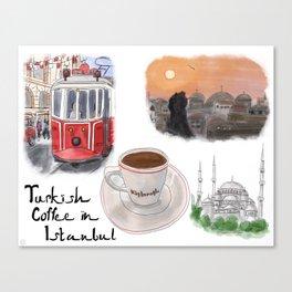 Turkish Coffee in Istanbul Canvas Print