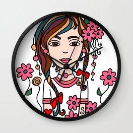 Style Girl - Jazz - Doodle Art Wall Clock