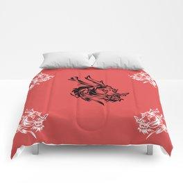 kunf fu dragon martial arts picture chenesse Comforters