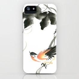 Bird 3- Chinese Shui-mo (水墨) iPhone Case