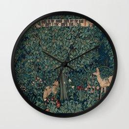 William Morris Greenery Tapestry Wall Clock
