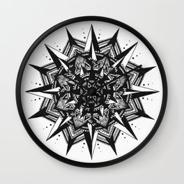Ying Yang Mandala Wall Clock