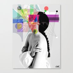 IN HER WORLDS Canvas Print
