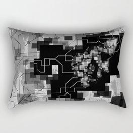 Faces Two. Rectangular Pillow