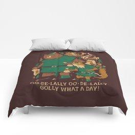 oo-de-lally (brown version) Comforters