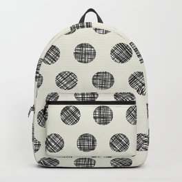 Hatched Circles in Cream Backpack
