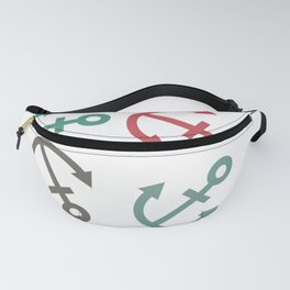 Colorful sea anchor on a white background. Pirates Fanny Pack