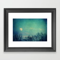 Ice Moon Framed Art Print