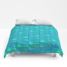 Teal Spoonie Print! Comforters