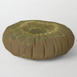 Green Mold Mandala 2 Floor Pillow