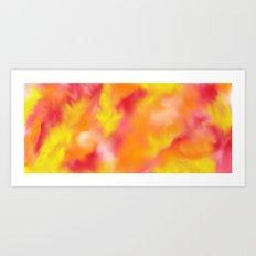 spring swirl Art Print