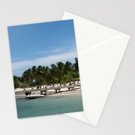 Island Beach Dock   Nadia Bonello Stationery Cards