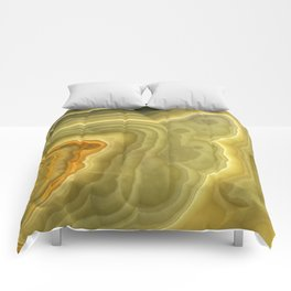 Green marble pattern Comforters