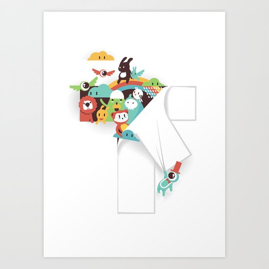 There is a T in the Team (but no I) Art Print