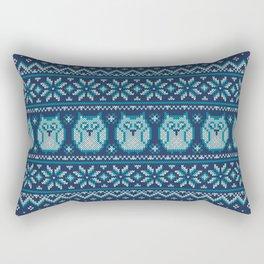 Owls winter knitted pattern Rectangular Pillow