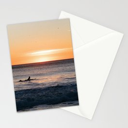 Surfer at Dusk Stationery Cards